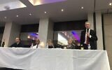 Gordon Nardell speaks at the Westminster hustings