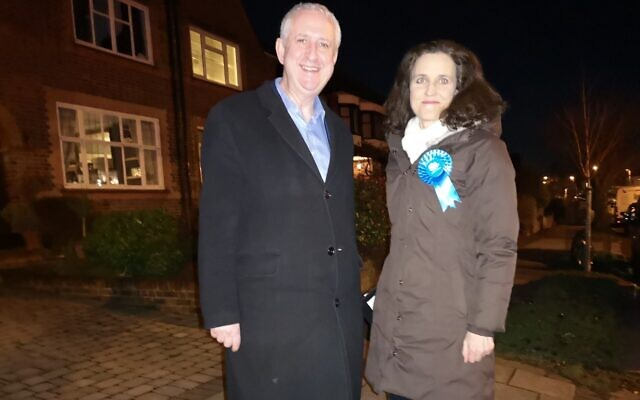 Ivan Lewis and Theresa Villiers  on the doorstep