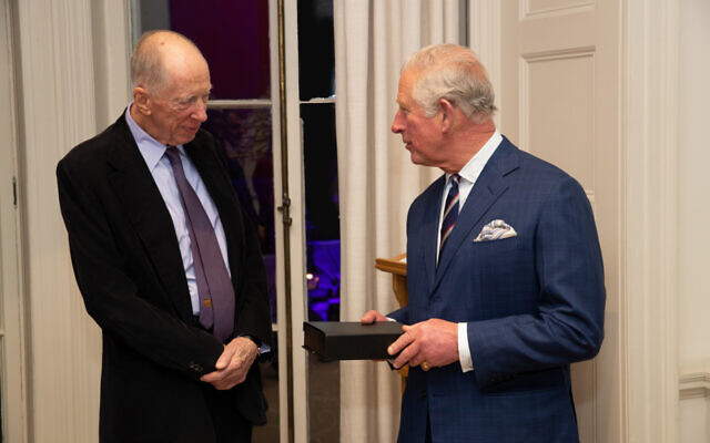 Lord Rothschild with Prince Charles
