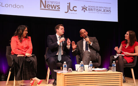 Naz Shah, Labour's candidate for Bradford West; Robert Jenrick, Conservative candidate for Newark; Chuka Umunna, Liberal Democrat candidate for Cities of London & Westminster. Tamara Cohen, Sky News political correspondent (Photo credit: Marc Morris Photography)