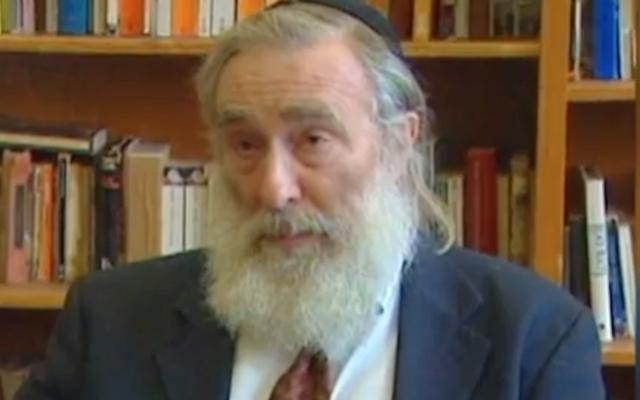 Rabbi Daniel Greer (Screen capture/YouTube via JTA and Times of Israel)