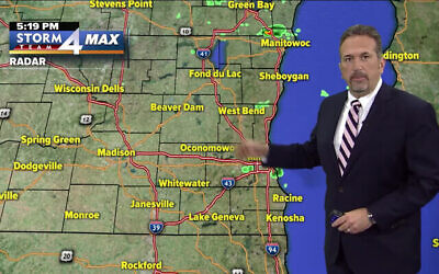 Milwaukee weatherman Scott Steele. (YouTube screenshot via Times of Israel)