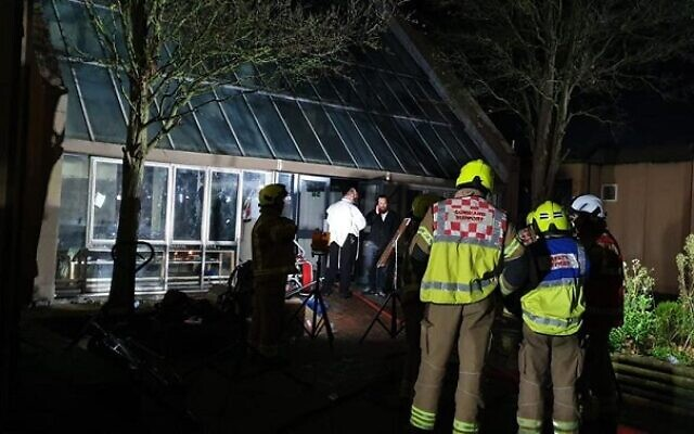 A huge blaze broke out at a Jewish school in Canvey Island, Essex on Sunday night. Credit: Relaxing Room