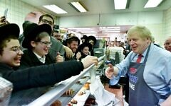 Boris Johnson at Golders Green's Grodzinski Bakery (credit: Boris Johnson/Twitter)