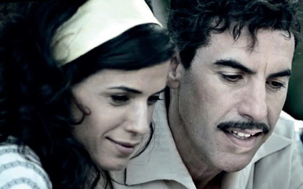 Hadar Ratzon Rotem as Nadia and Sacha Baron Cohen as Eli in Netflix drama, The Spy