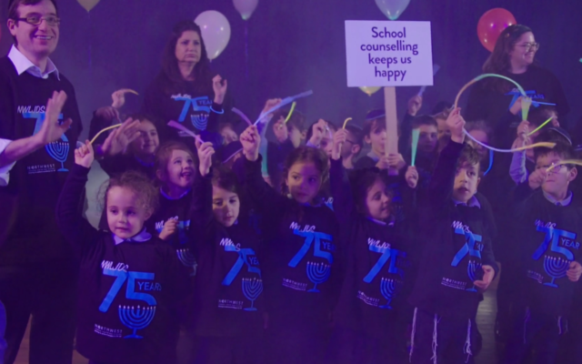 North West London Jewish Day School help in the school's fundraising video