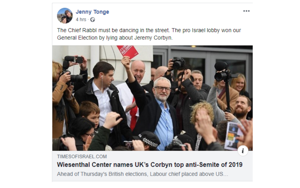 90 peers call for Jenny Tonge apology over 'Israel lobby won election' remark
