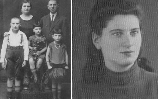 Mira Hamermesh (right and as a young girl with her family, left), was just 16 when she escaped Poland