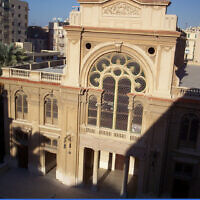 Eliyahu Hanavi Synagogue, located in Nabi Daniel Street, in Alexandria, Egypt. (Wikipedia/Author: Moshirah)