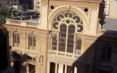 Eliyahu Hanavi Synagogue, located in Nabi Daniel Street, in Alexandria, Egypt. (Wikipedia/Author: Moshirah)