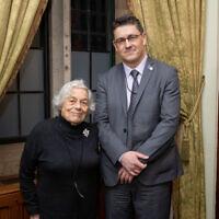 Vera Schaufeld and Safet Vukalic (Credit: Holocaust Memorial Day Trust, Grainge Photography)