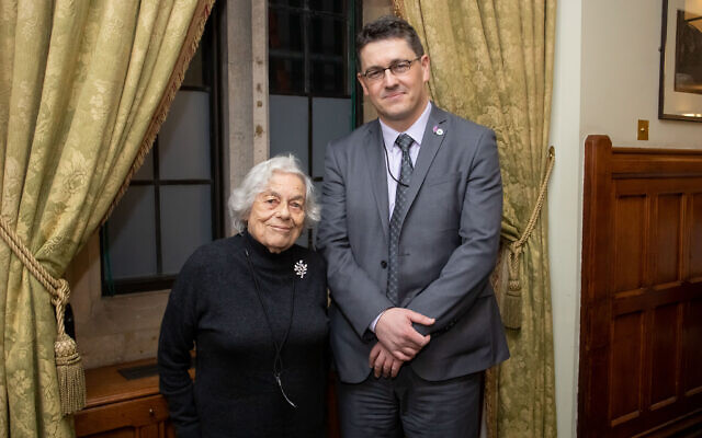 Vera Schaufeld and Safet Vukalic (Credit: Holocaust Memorial Day Trust, Grainge Photography)