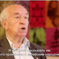 David Taubkin, a Holocaust survivor from the ghetto in Minsk, Belarus