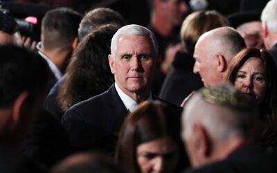 US Vice President Mike Pence . Photo by Yonatan Sindel-JINIPIX