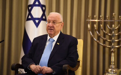 The Prince of Wales meets President Reuven Rivlin at his official residence in Jerusalem on the first day of his visit to Israel and the occupied Palestinian territories. (Photo credit: Victoria Jones/PA Wire)