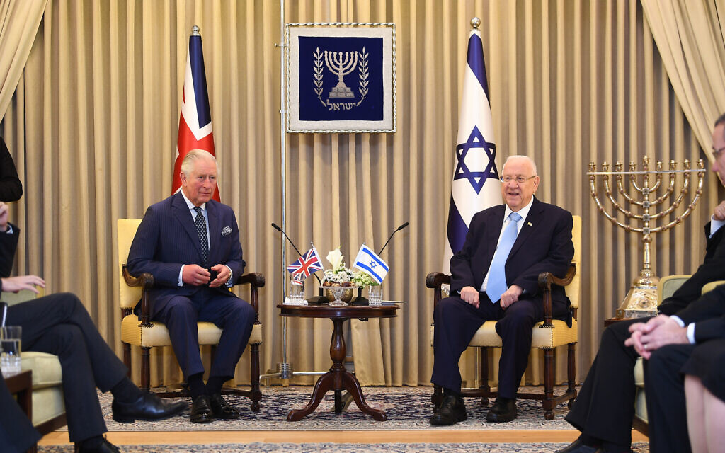 President Rivlin tells Prince Charles: 'we still expect your mother to visit'
