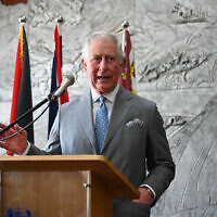 The Prince of Wales attends a reception for Palestinian christians at the Casa Nova Franciscan pilgrim house in Bethlehem in the Palestinian Territories on the second day of his visit to the regions. Photo credit: Neil Hall/PA Wire