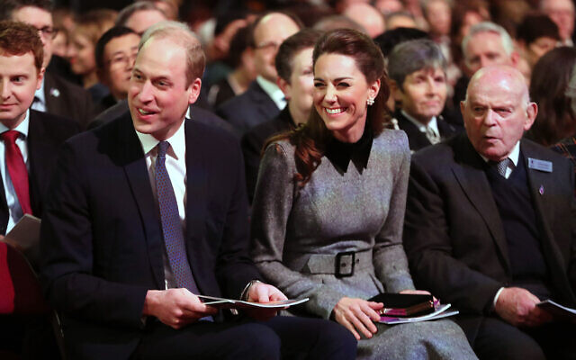 The Duke and Duchess of Cambridge during the UK Holocaust Memorial Day Commemorative Ceremony at Central Hall in Westminster, London.  (Photo credit: Chris Jackson/PA Wire)