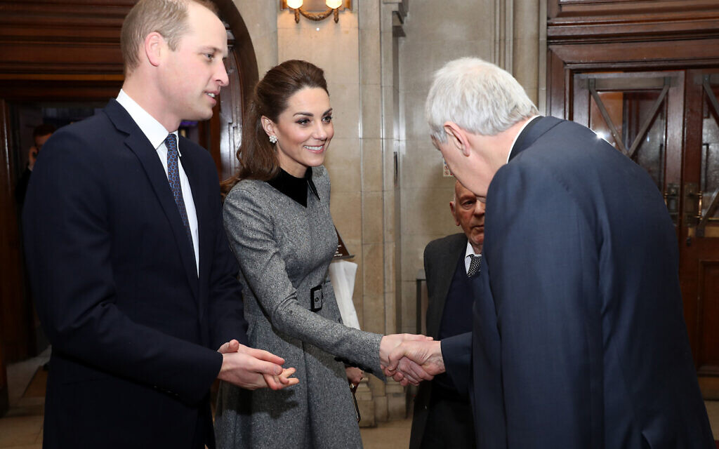 The Duke and Duchess of Cambridge during the UK Holocaust Memorial Day Commemorative Ceremony at Central Hall in Westminster, London. . (Photo credit: Chris Jackson/PA Wire)