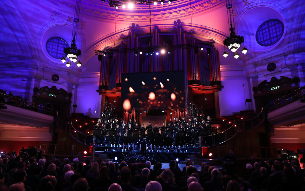 Ani Maamin is performed by the Fourth Choir and the Wallace Ensemble during the UK Holocaust Memorial Day Commemorative Ceremony at Central Hall in Westminster, London. . (Photo credit: Chris Jackson/PA Wire)