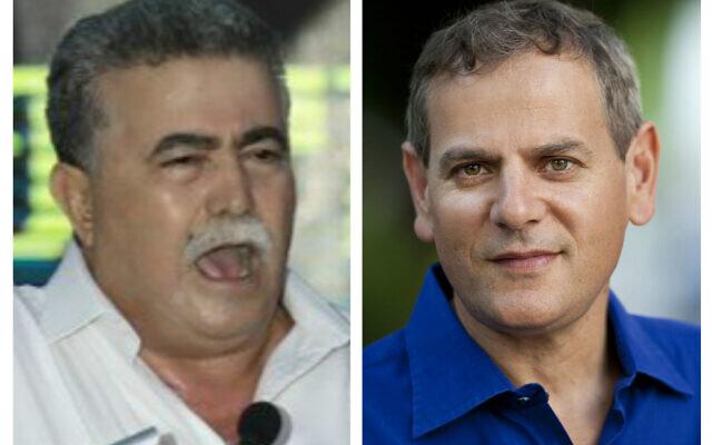 Amir Peretz (left) and Nitzan Horowitz (right)