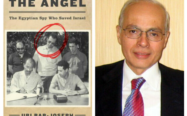 Ashraf Marwan (right) and The Angel: The Egyptian Spy who Saved Israel (Wikipedia/ 	Eyal evron and Raafat)