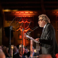 Howard Jacobson speaking at Nightingale Hammerson's gala dinner. (Blake Ezra Photography)