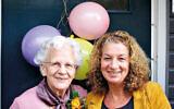 Coby de Groot and her daughter. Coby helped to hide Ria Gurfein