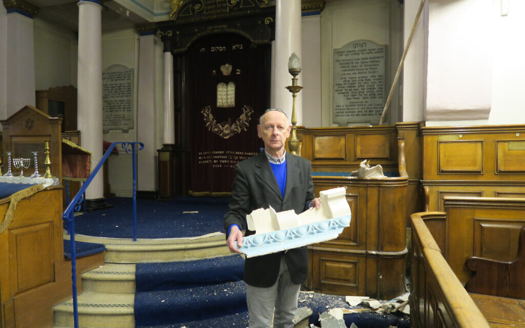 Damage caused to Whitechapel's East London Synagogue (Credit: Mike Brooke/East London Advertiser)
