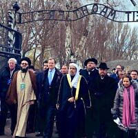 Delegation of senior Muslim leaders and members of a US Jewish group (Credit: American Jewish Committee)