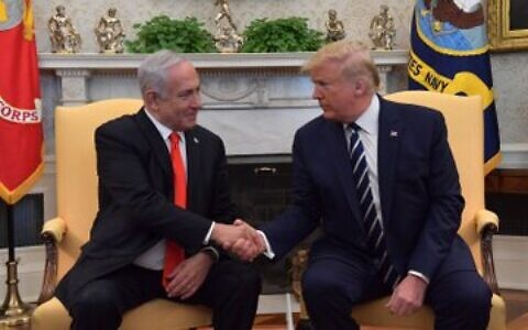 Benjamin Netanyahu meeting with President Donald Trump
