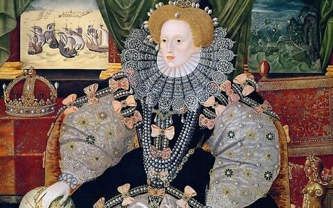Portrait of Elizabeth I of England, the Armada Portrait (Wikipedia/Collection: Woburn Abbey/ Source/Photographer	http://www.luminarium.org/renlit/elizarmada.jpg/