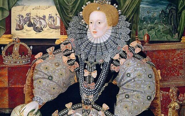 Portrait of Elizabeth I of England, the Armada Portrait (Wikipedia/Collection: Woburn Abbey/ Source/Photographerhttp://www.luminarium.org/renlit/elizarmada.jpg/
