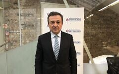 World Uyghur Congress president Dolkun Isa at the Board of Deputies' offices on Monday