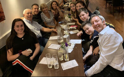 Sabrina out with her family for a meal! (Jewish News)