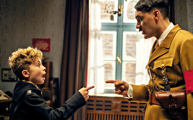Scene from Jojo Rabbit with Taika Waititi as Hitler