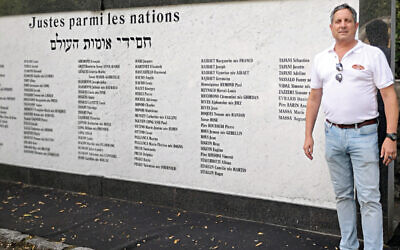 The new Wall of Names with names of the 3,485 Jews who were deported during Nazi occupation