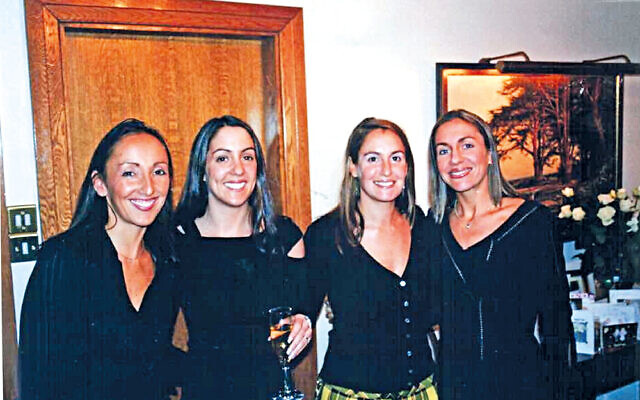 Jo (left), Janie and Julie with sister Jenny (second right), who died in 2016
