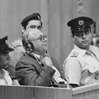 John Demjanjuk hearing his death sentence. Demjanjuk Trial Jerusalem (Wikipedia/USHMM Photograph #65266, courtesy of Israel Government Press Office)