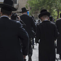 Charedim. (Photo by Kish Kim / Sipa USA)