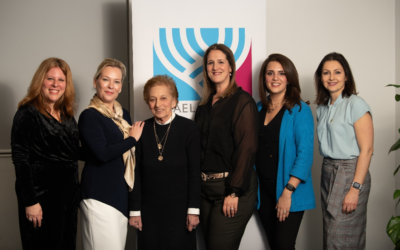 Lady Ruth Morris of Kenwood (third from left) speaks at an Israel Bonds Event (Blake Ezra Photography)