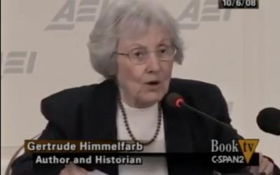 Gertrude Himmelfarb (Screenshot from Youtube)