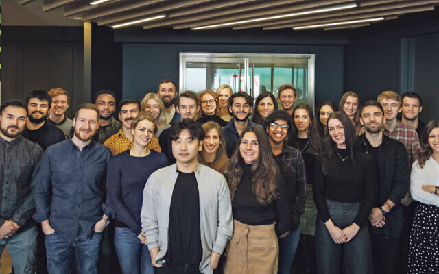 The ASO Co team at their offices in digital agency Jellyfish's London HQ at The Shard