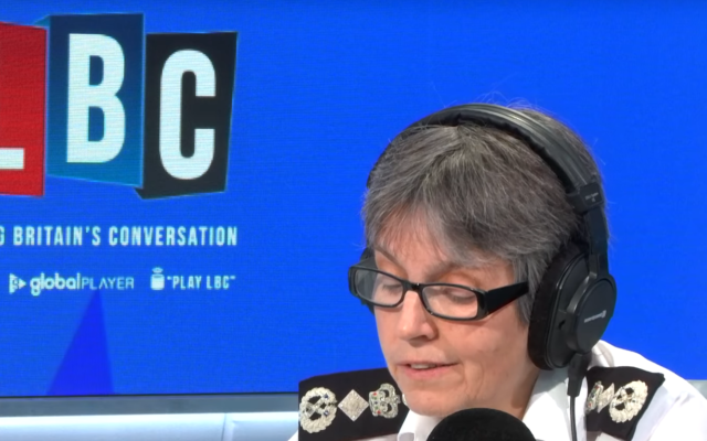 Dame Cressida Dick speaking to Nick Ferrari on Wednesday