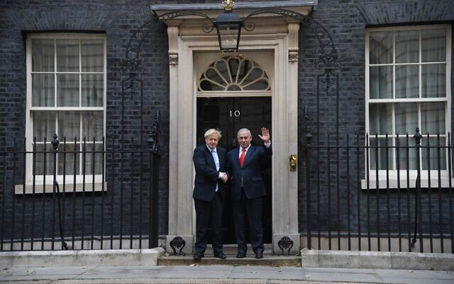 PM Boris Johnson and Israeli counterpart, Bibi Netanyahu