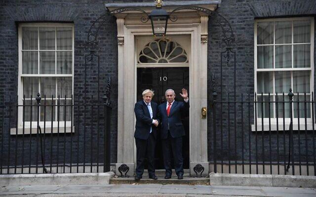 PM Boris Johnson and Israeli counterpart, Bibi Netanyahu