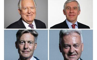 Peter Hain, Jack Straw, Ben Bradshaw and Sir Alan Duncan