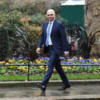 Former Chancellor of the Exchequer Sajid Javid arriving in Downing Street, London, Photo credit: Stefan Rousseau/PA Wire