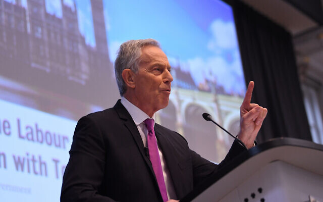 Former prime minister Tony Blair during a speech to mark the 120th anniversary of the founding of the Labour party, in the Great Hall at King's College, London. (Photo credit: Stefan Rousseau/PA Wire)