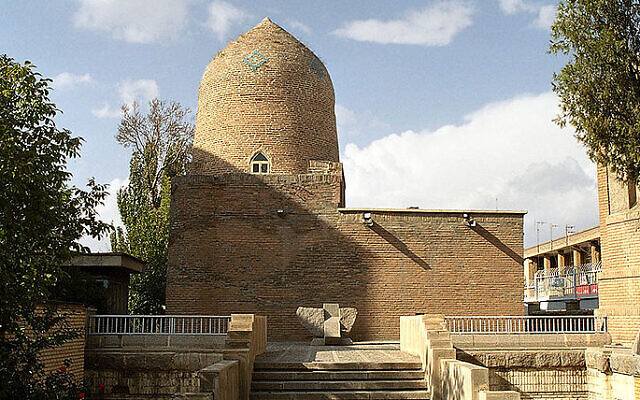 The Tomb of Esther and Mordechai in Hamadan, Iran (CC BY-SA Philippe Chavin/Wikipedia via Times of Israel)